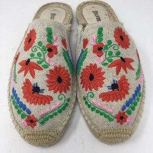 Soludos lbiza Embroidered Espadrille Floral Mules